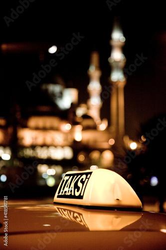 Fotografiet Instanbul cab taxi