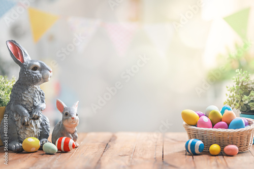 Fotografiet Background with Easter eggs