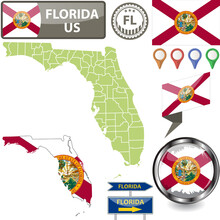 Map Of Florida, US