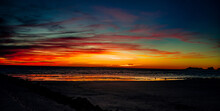 Beautiful, Winter Sunset On The Sea Of Cortez As Seen From Sandy Beach, Rocky Point, Puerto Penasco, Sonora, Mexico