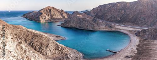 Vászonkép Fjord Bay in Taba, South Sinai, Egypt.