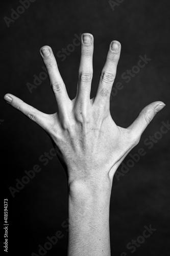 Obraz Wyciągnięta dłoń - fototapety do salonu