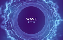 Wave Of Sound Data. Abstract Music Vector Background. Circle Cloud Music Wave