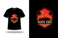T-shirt Santa Cruz California Color Orange