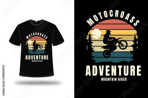 фотография t-shirt motocross adventure mountain biker color orange yellow and green