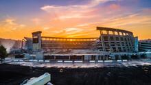 Sunset And San Diego Jack Murphy Stadium / Qualcomm Stadium Demolition