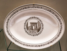 Table Set With Views Of Paris. Plate With The Image Of The Porte Saint-Denis In The North