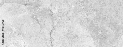 Fototapeta Panorama of White marble tile floor texture and bckground seamless obraz
