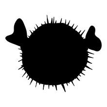 Blowfish Silhouette. Tetraodontidae Vector Illustration