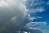 Fototapeta Rainbow - tęcza po burzy