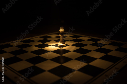 Valokuvatapetti chess board game for ideas and competition and strategy, business success concept