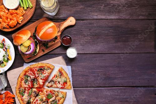 Healthy plant based fast food side border Fototapeta