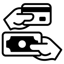 A Mobile Payment Icon In Solid Editable Design