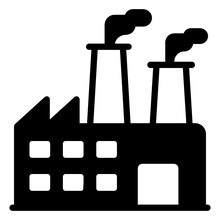 Geothermal Energy In Solid Style Icon, Editable Vector