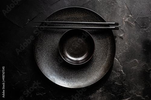 Asian table setting Fotobehang