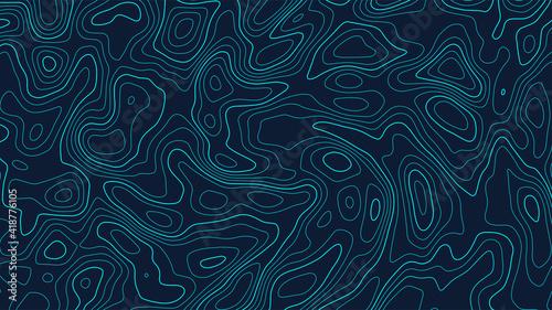 Obraz na plátně Vector contour topographic map background