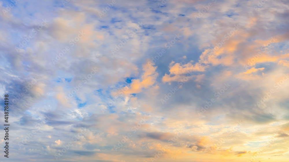 Fototapeta Natural background: dramatic sky at sunset