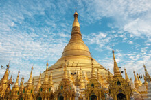 Shwedagon Pagoda, The Most Sacred Buddhist Pagoda And Religious Site In Yangon, Myanmar (Burma).