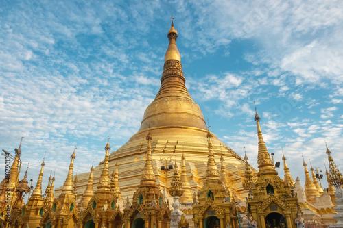 Shwedagon Pagoda, the most sacred Buddhist pagoda and religious site in Yangon, Myanmar (Burma) Wallpaper Mural