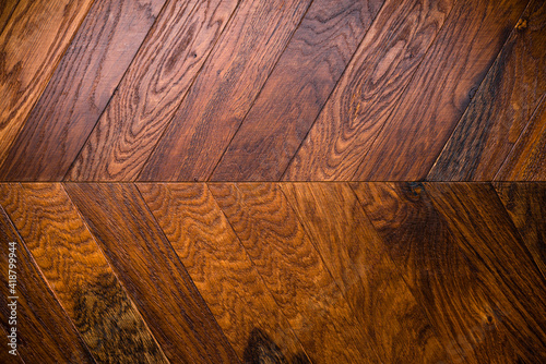 Fototapeta Natural wooden background herringbone, grunge parquet flooring design seamless texture obraz na płótnie