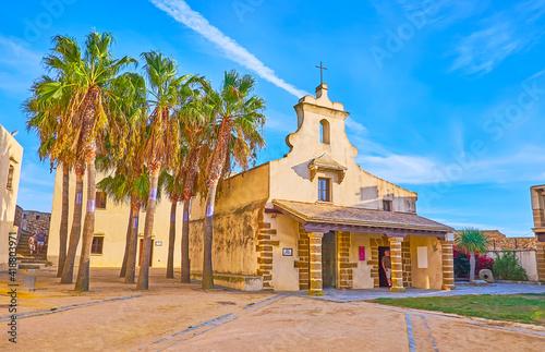 Canvas The chapel of Santa Catalina Castle, Cadiz, Spain
