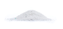 Washing Powder Heap Isolated On White Background. Washing Detergent Cut Out