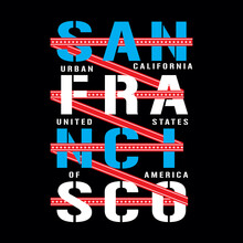 SAN FRANCISCO CALIFORNIA, USA, Typography For T Shirt Print And Other Uses, Vector Illustration