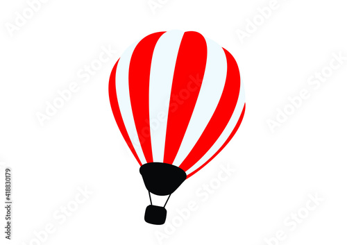 Obraz na plátně illustration; parachute house wall sticker
