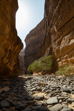 Sneak Canyon Geological Outcrop Formations At Ancient Oasis of Al Ula, Saudi Arabia