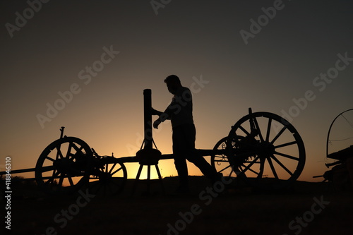 Canvas Print silhouette of a horse