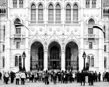 Hungarian Parliament Building, Architectural Tourist Attraction, Neo Gothic Revival Facade,