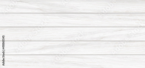 Fototapeta White wooden background, wood table, tabletop texture top view with horizontal planks, kitchen countertop timber surface. Dining desk, wall, floor or board realistic 3d vector illustration, mock up obraz