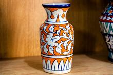 Multan , Pakistan February 21, 2021: Exhibition Of Blue Pottery Crockery And Ceramics