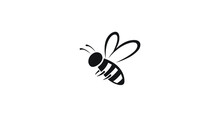 Creative Bee Insect Abstract Logo