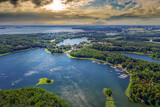 Fototapeta Na sufit - Giżycko-miasto na Mazurach w północno-wschodniej Polsce