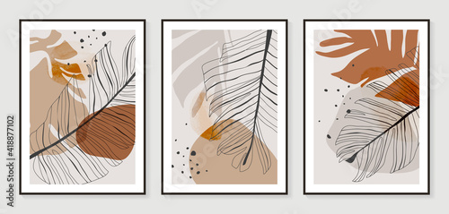 Canvas Print Botanical wall art vector set