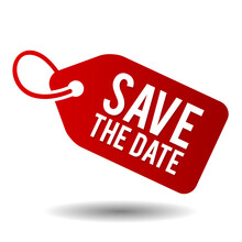 Save The Date On White Background.