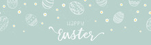 Cute Hand Drawn Easter Banner, Creative And Fun, Great For Social Media, Cards, Invitations - Vector Design