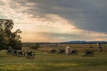 Gettysburg Battle Field In Pennsylvania.