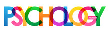 PSYCHOLOGY Colorful Vector Typography Banner