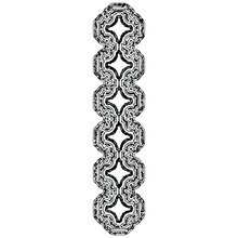Decorative Ornamental Uppercase Letter In Grunge Style.Vector Art Font.