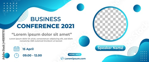 Obraz na plátně Business conference banner design