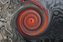 Red Black Background From Distortion And Abstraction With Twisting