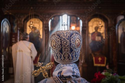 Fotografiet Orthodox church ceremony with high priest