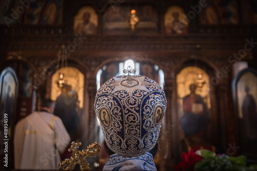 Tablou Canvas Orthodox church ceremony with high priest