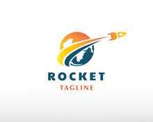 Rocket Logo Connect Logo Creative Rocket Logo Fast Rocket Logo