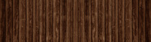 Old Brown Rustic Dark Wooden Boards Texture - Wood Timber Background Panorama Long Banner
