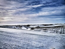 Winter On The Yorkshire Wolds - A View Across A Snow-covered Scene.