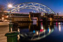 Providence Bridge At Night Providence Rhode Island