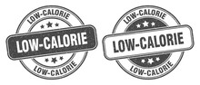 Low-calorie Stamp. Low-calorie Label. Round Grunge Sign